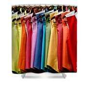 Mens Tuxedo Vests In A Rainbow Of Colors Shower Curtain