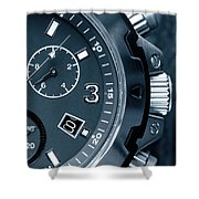 Mens Watch Close Up Shower Curtain