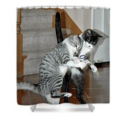 Meow Vows Shower Curtain