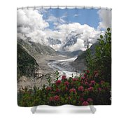 Mer De Glace - Sea Of Ice Shower Curtain by Camilla Brattemark