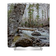 Merced River From Happy Isles Shower Curtain