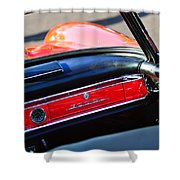 Mercedes 300 Sl Dashboard Emblem Shower Curtain