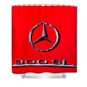 Mercedes 300 Sl Emblem -0121c Shower Curtain