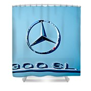 Mercedes 300 Sl Emblem -0190c Shower Curtain