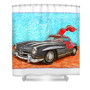 Mercedes  Benz 300 S L Gull Wing Shower Curtain