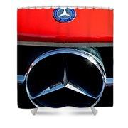 Mercedes-benz 300 Sl Grille Emblem Shower Curtain