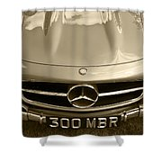 Mercedes Benz 300 Sl Roadster 1957 Shower Curtain