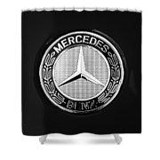 Mercedes-benz 6.3 Gullwing Emblem Shower Curtain