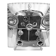 Mercedes Benz - Bw Shower Curtain