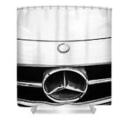 Mercedes-benz Grille Emblem -0230bw Shower Curtain