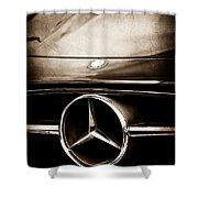 Mercedes-benz Grille Emblem Shower Curtain