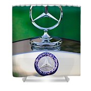 Mercedes Benz Hood Ornament 3 Shower Curtain