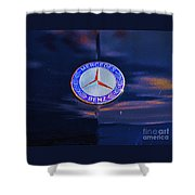 Mercedes Benz Logo Shower Curtain