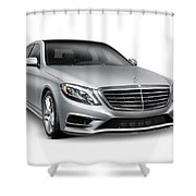 Mercedes-benz S550 4matic Luxury Car Shower Curtain