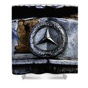 Mercedes Benz Shabby Chic Shower Curtain