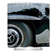 Mercedes-benz Wheel Emblem Shower Curtain