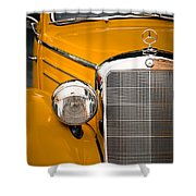 Mercedes Retro Shower Curtain