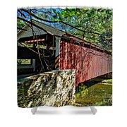 Mercers Mill Covered Bridge Shower Curtain