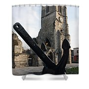 Merchant Sailors Memorial With Q.e.2 Anchor Shower Curtain