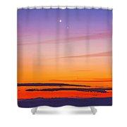 Mercury & Venus Conjunction Closeup Shower Curtain
