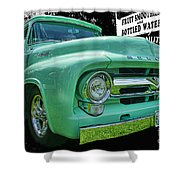 Mercury Truck Bw Background Shower Curtain