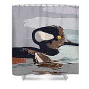 Merganser Reflections Shower Curtain