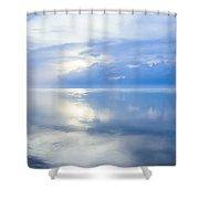 Merging Horizons Shower Curtain by Nila Newsom