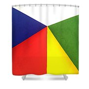 Merging Points Shower Curtain