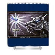 Merlin's Dragon Shower Curtain