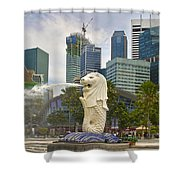 Merlion Park In Singapore Shower Curtain