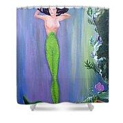 Mermaid And Treasure Chest  Shower Curtain