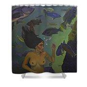 Mermaid At 52 Shower Curtain