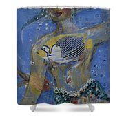 Mermaid Shower Curtain by Avonelle Kelsey