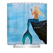 Mermaid Glam Day Shower Curtain
