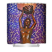 Mermaid In Cancun Shower Curtain by Halifax travel photos by John Malone