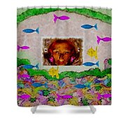 Mermaid In Her Cave Shower Curtain