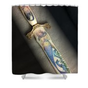 Mermaid Knife Shower Curtain