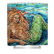 Mermaid Sleep New Shower Curtain