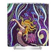 Mermaid Under The Sea Shower Curtain