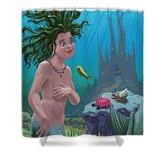 Mermaid Underwater City Shower Curtain