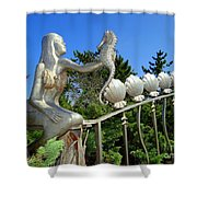 Mermaid's Best Friend Shower Curtain
