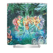 Mermaids Danicing Shower Curtain