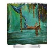 Mermaids Relaxing Evening Shower Curtain