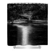 Merrill Walk Bridge Shower Curtain