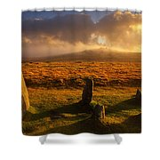 Merrivale Stone Rows Shower Curtain