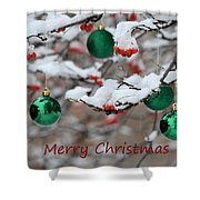 Merry Christmas 3 Shower Curtain