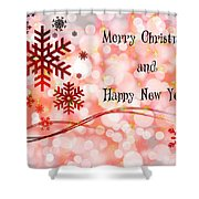 Merry Christmas And Happy New Year Shower Curtain