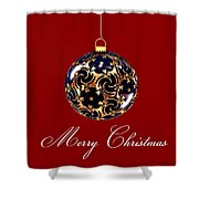 Merry Christmas Bauble Shower Curtain