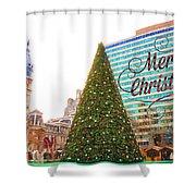 Merry Christmas From Philadelphia Shower Curtain