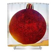 Merry Christmas Ornament Sunrise 11 12/17 Shower Curtain